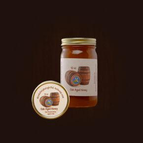 Oak Aged Honey Jar and Lid