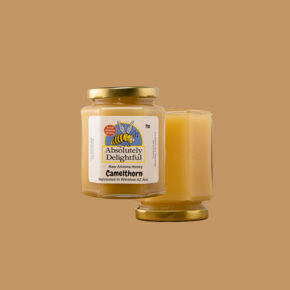Two floating jars of Camelthorn Honey from Absolutely Delightful