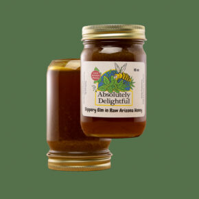 Two Floating 18oz Jars of Slippery Elm Infused Honey