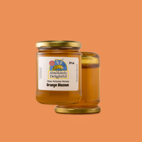 Medium Jars of Orange Blossom Honey Floating