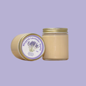 5oz Whipped Lavender Honey Jar Floating