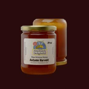 Two Autumn Harvest Honey Jars